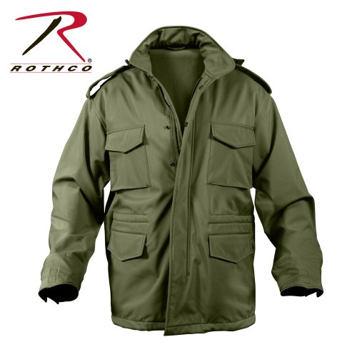 Rotcho куртка Mens Soft Shell Tactical Jacket M-65, Olive Drab